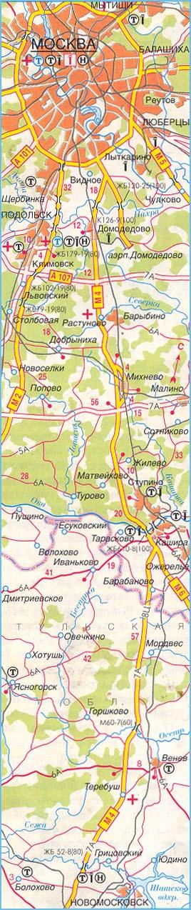"""Плату за проезд на трассе М-4  """"Дон """" в Московской области, на участке 48 по 71 километр, планируют ввести с 15 июня..."""