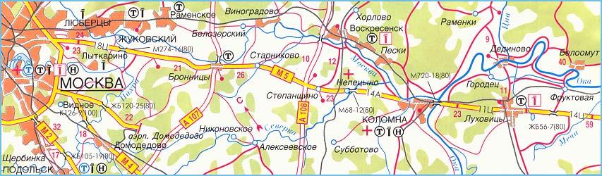 Атлас и карта схема трассы м-5